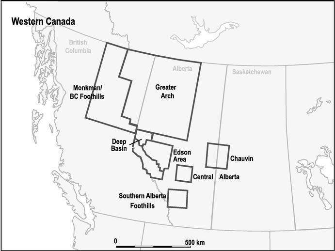 ACTIVITY AREAS WESTERN CANADA MAP
