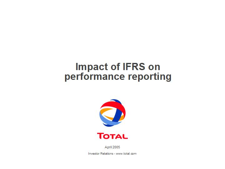 Impact of IFRS onperformance reporting