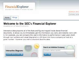 SEC Financial Explorer home page
