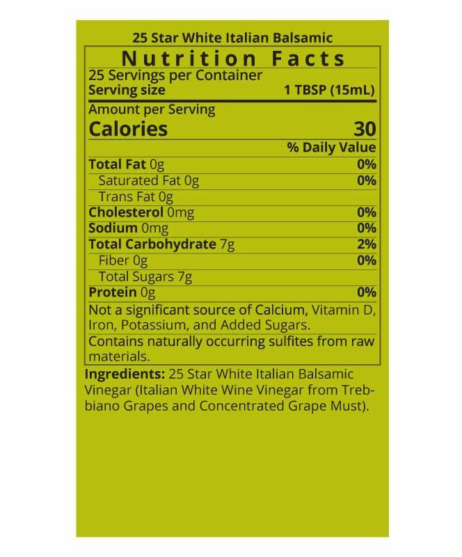 White Balsamic Vinegar Nutrition Facts