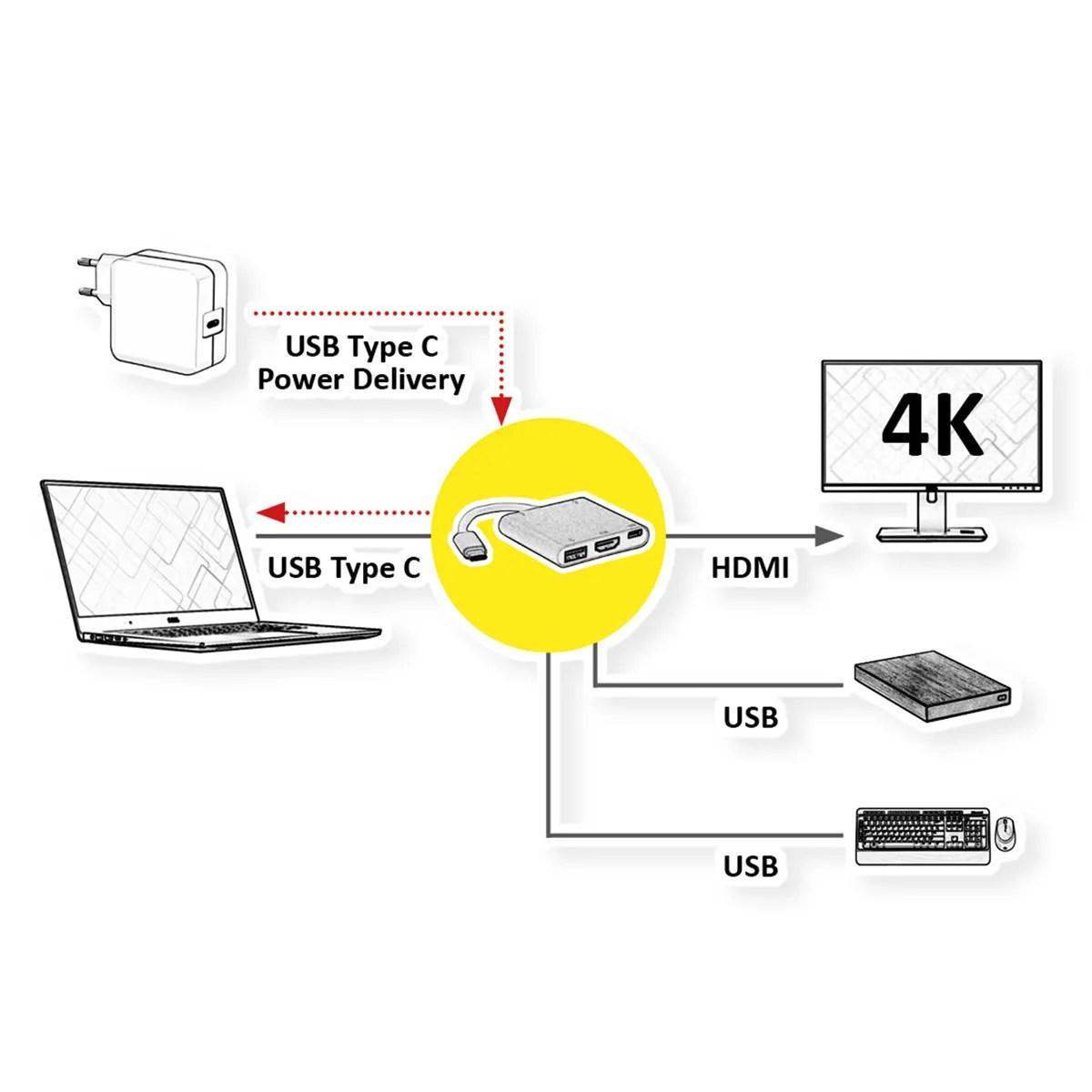 Roline Display Adapter Usb Typ C