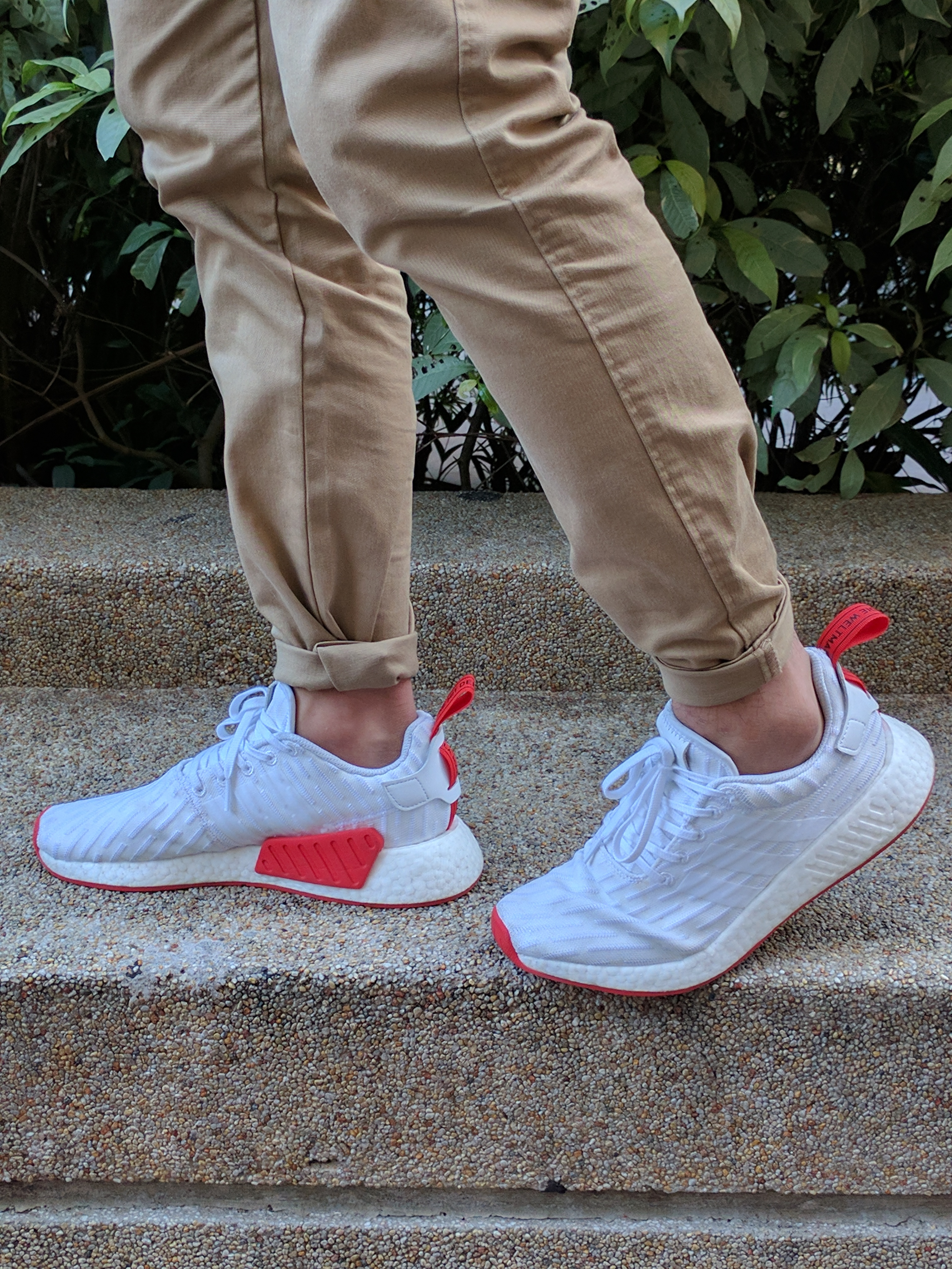separation shoes cb2ee 9e71d NMD R2 White/Core Red (Two Toned) Review - Second Basement