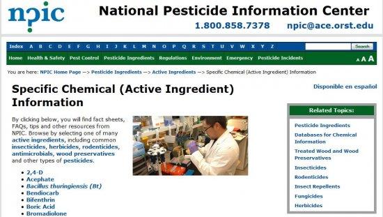 NPIC Active Ingredient Information