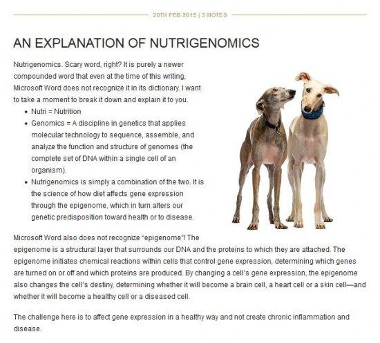 Dr. Dodds Explanation of Nutrigenomics