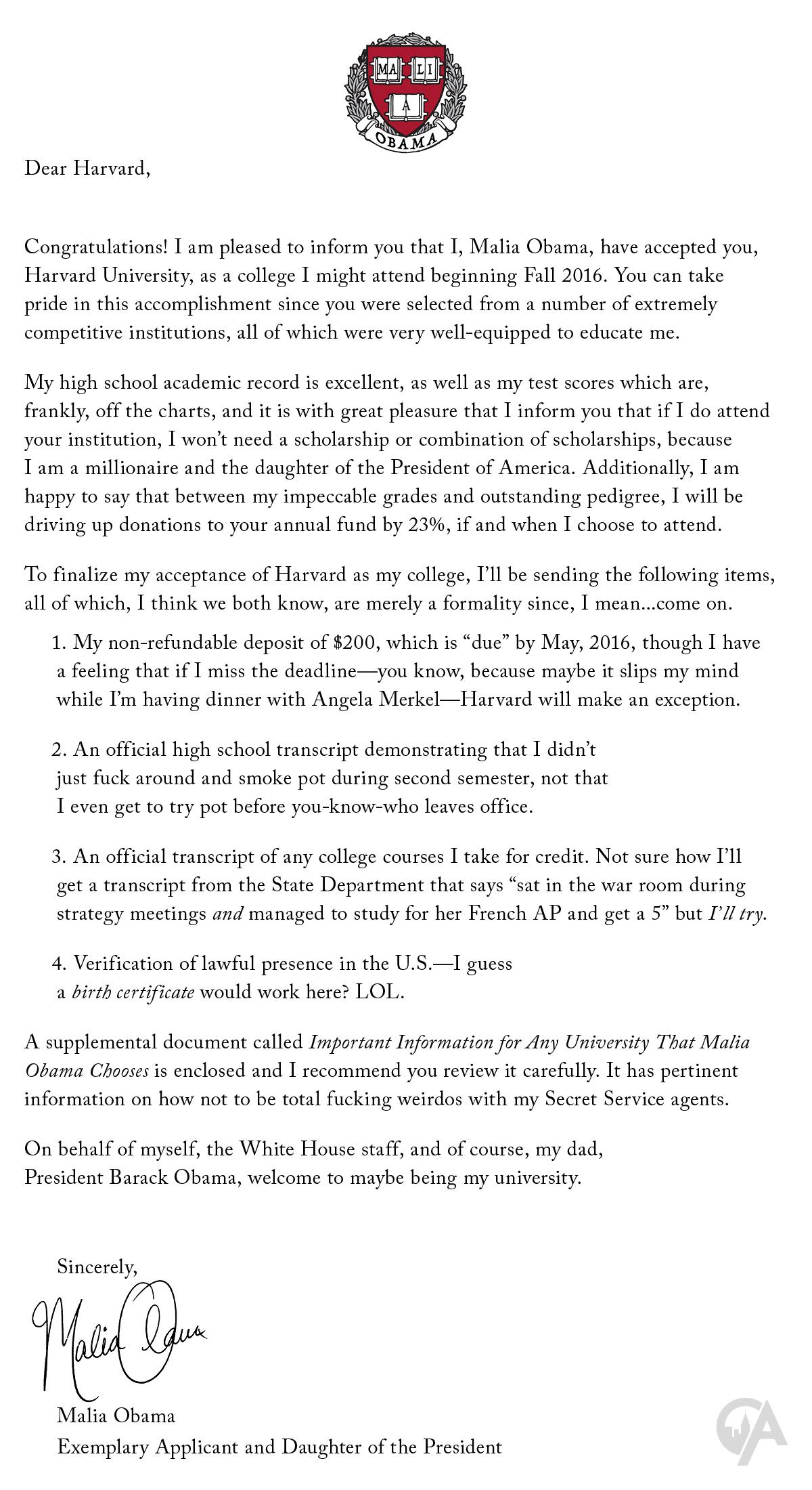 harvard college application essay