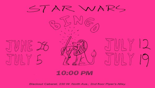 Star Wars Bingo