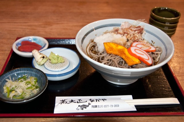 Soba at a traditional sobaya in Hida-Furukawa - 3 week itinerary Japan