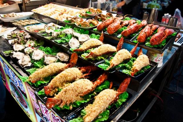 Seafood, Raohe Street Night Market, Kaohsiung