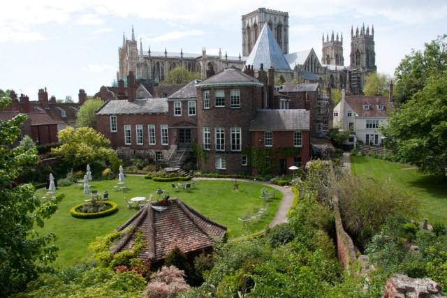 View of the Minster from the Roman walls, York