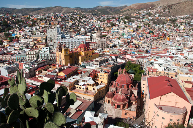 Stunning view over Guanajuato from the El Pípila monument
