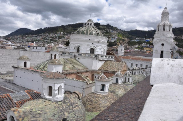 View from top of Quito cathedral