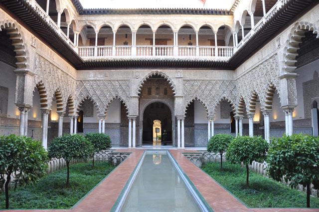 Patio de las Doncellas, Alcázar, Sevilla. Lots of Game of Thrones scenes were shot at the Alcázar.