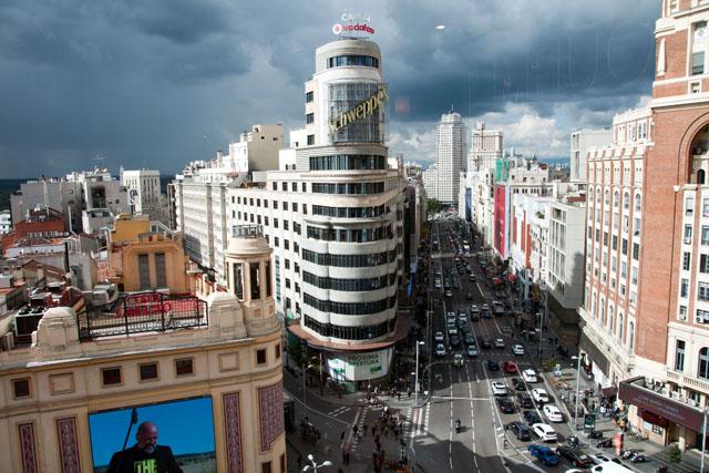 View from El Corte Inglés, Callao, Madrid