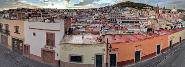 View over Zacatecas from my hotel balcony