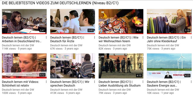 Deutsche Welle Advanced German Learning Videos