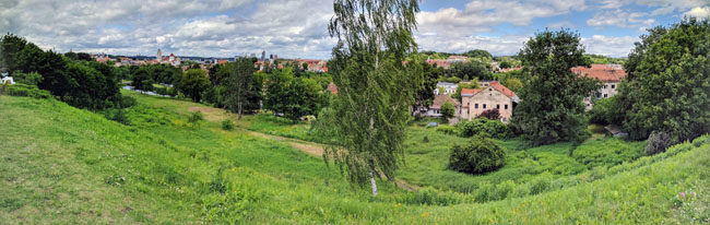 View over Vilnius - Baltic countries travel