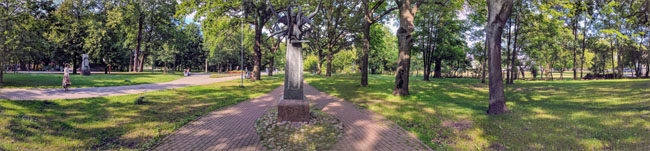 Klaipeda sculpture park. Formerly the city cemetery, demolished by the Soviets.