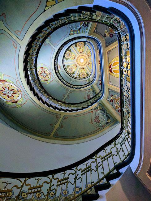 Stairway in Art Nouveau museum, Riga
