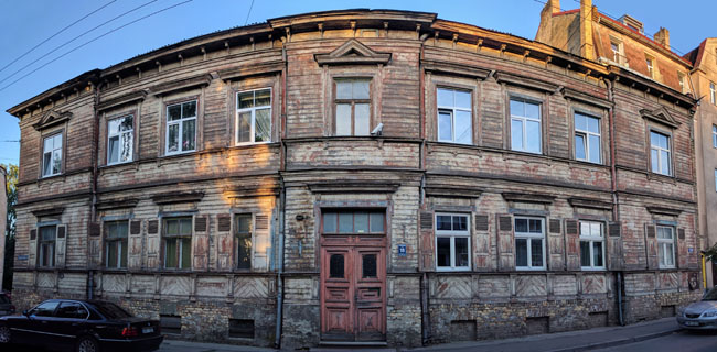 Traditional wooden house, Riga