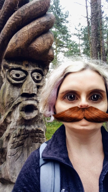 Fun with Snapchat at the Hill of Witches sculpture park, Juodkrantė