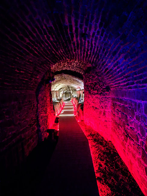 Exploring Puebla's historic secret tunnels with the guide
