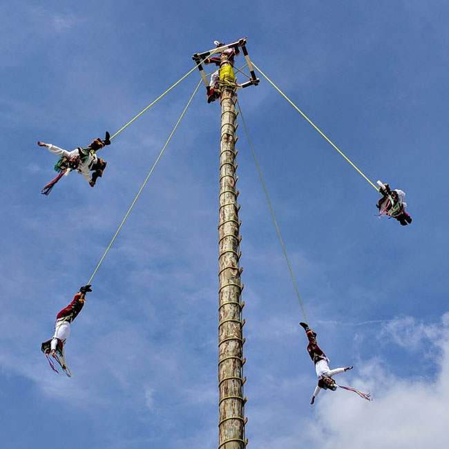 The voladores de Cuetzalan put on a special show for Día de Muertos