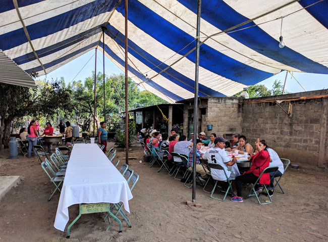 The generous inhabitants of Huaquechula invite visitors to partake of food and drink