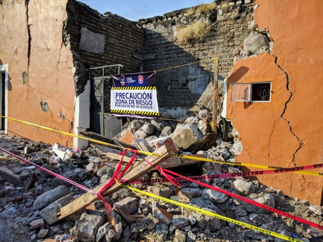 Earthquake damage, Huaquechula, state of Puebla