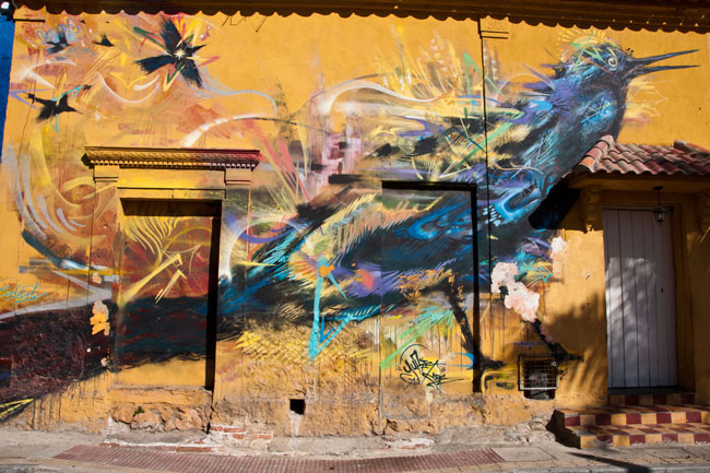Street art in the Getsemaní neighborhood, Cartagena