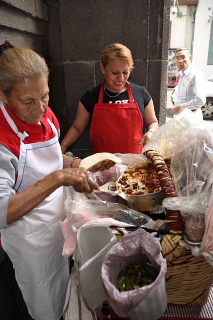 Taco vendors, Puebla