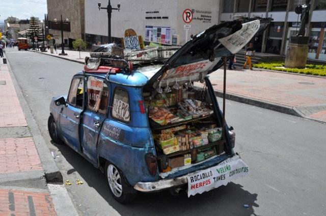 Mobile vendor, Bogotá