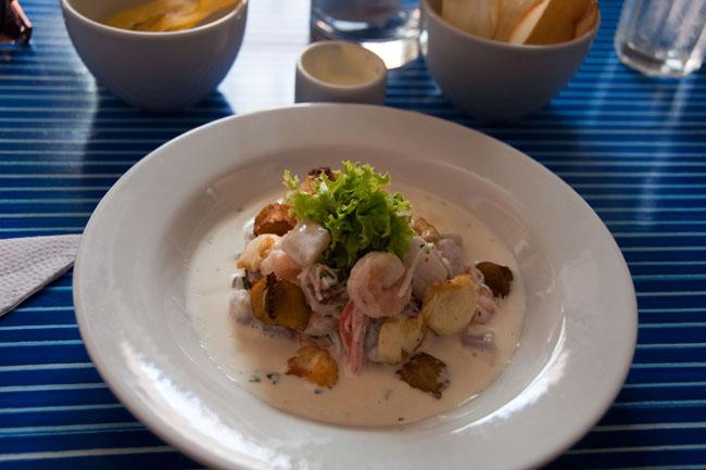 Ceviche at Cevichería Chipi Chipi, Cartagena
