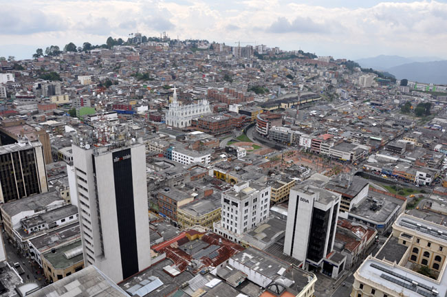 View from the cathedral, Manizales