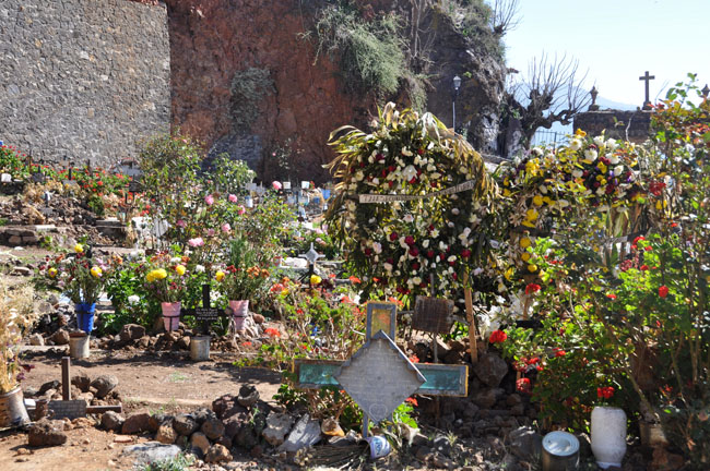 Cemetery on Janitzio. One of the most famous places in Mexico to experience Day of the Dead celebrations.