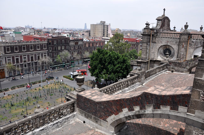 View from the roof of the Catedral Metropolitana, Mexico City