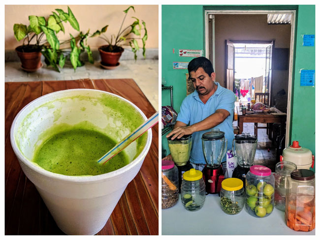 Excellent family-run juice shop I went to every day near the school on the corner of 67 and 68. A liter of fresh green juice was MXN$30 (US$1.60).