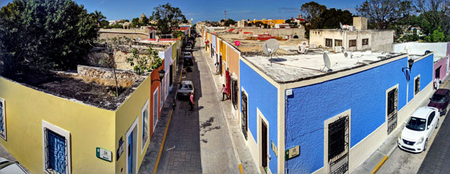 View from old city wall, Campeche - what to do in Yucatan Mexico
