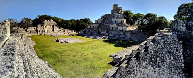 Edzná Maya archaeological site, Campeche - Yucatan peninsula ruins