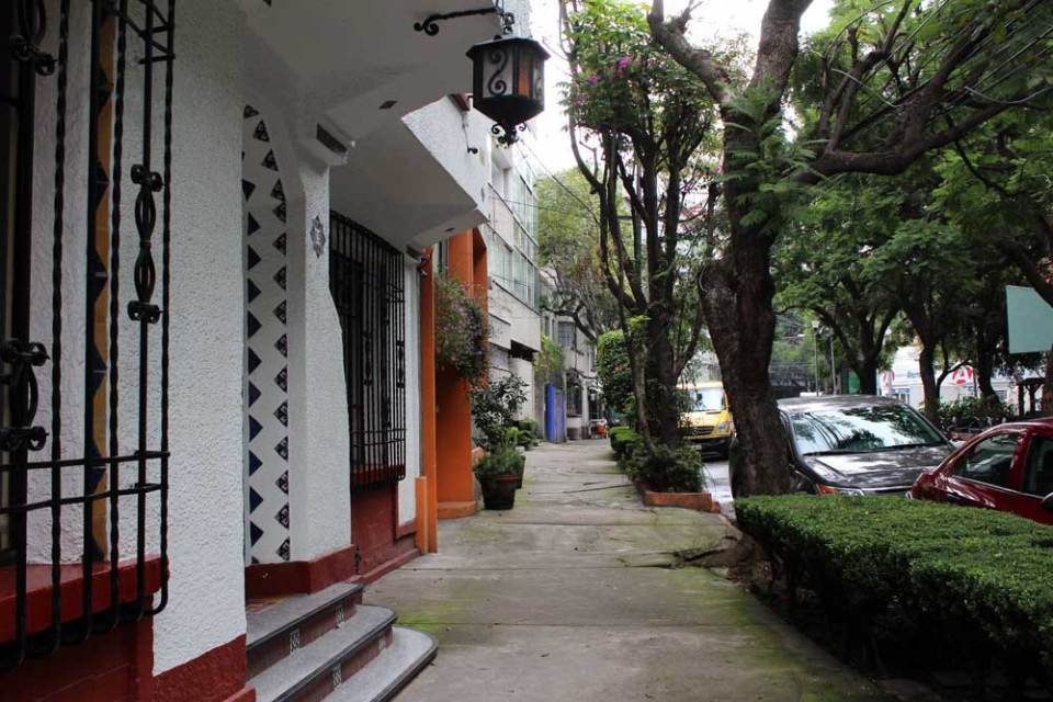 The leafy Condesa neighborhood in Mexico City