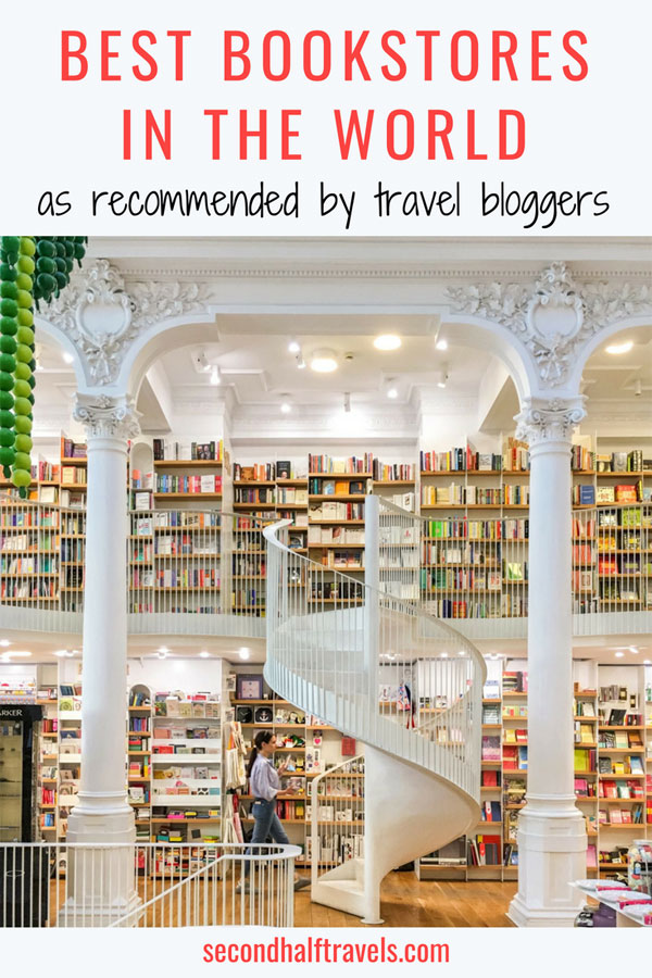 Love to visit unique bookstores when you travel? Discover the best bookstores in the world as recommended by professional travel bloggers.