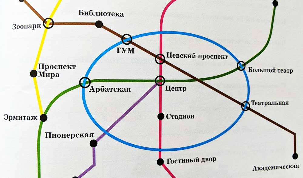 St. Petersburg metro map in Russian