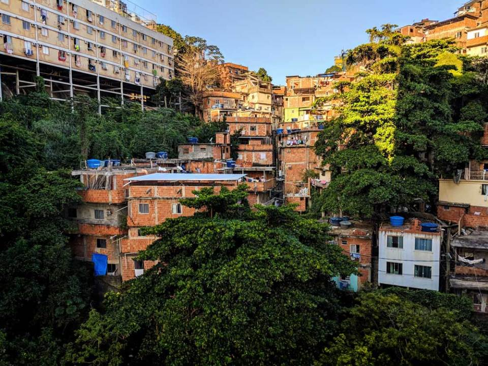 View from back: Cantagalo favela
