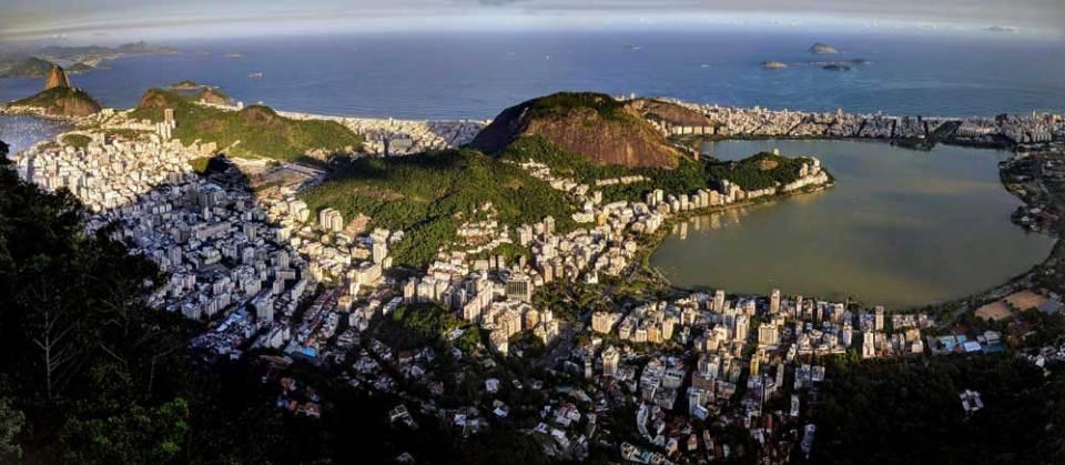 View from the Cristo over Ipanema - study Portuguese in Rio de Janeiro
