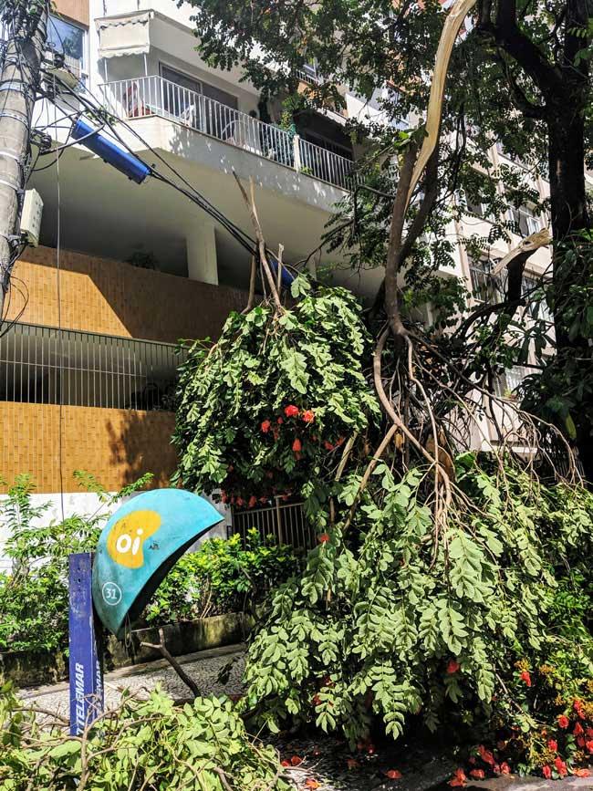 Storm damage, Ipanema