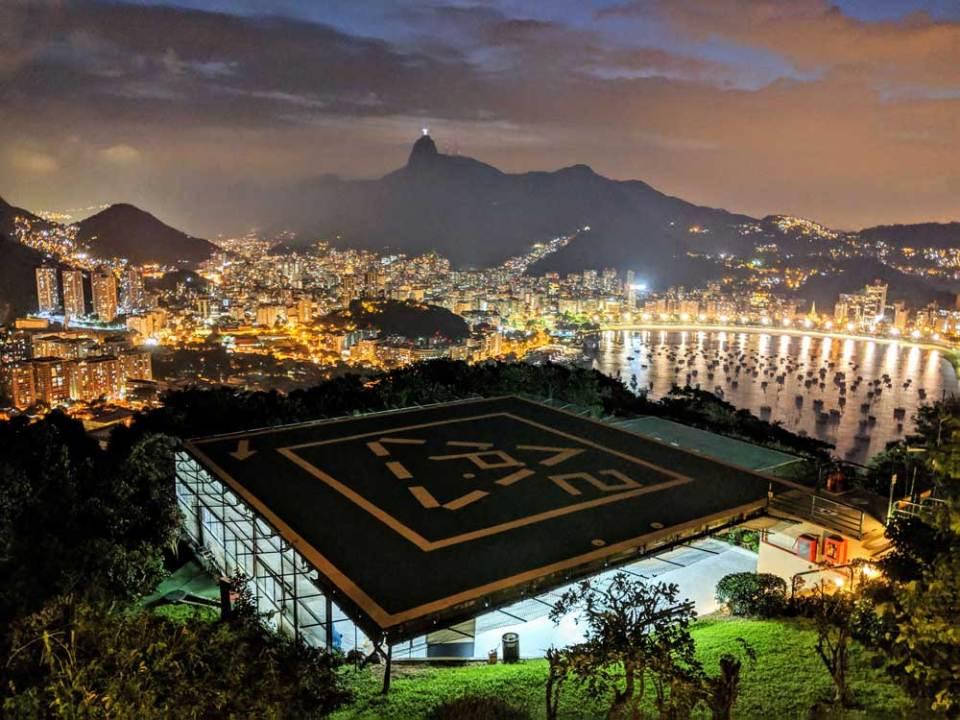 Helipad, Pão de Açúcar, Rio - learning Portuguese in Rio