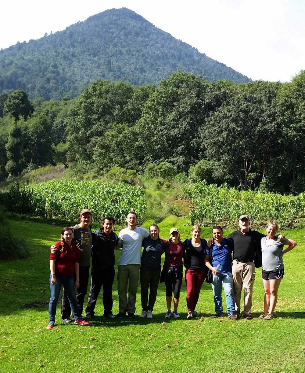 SISAI students and teachers on hiking trip