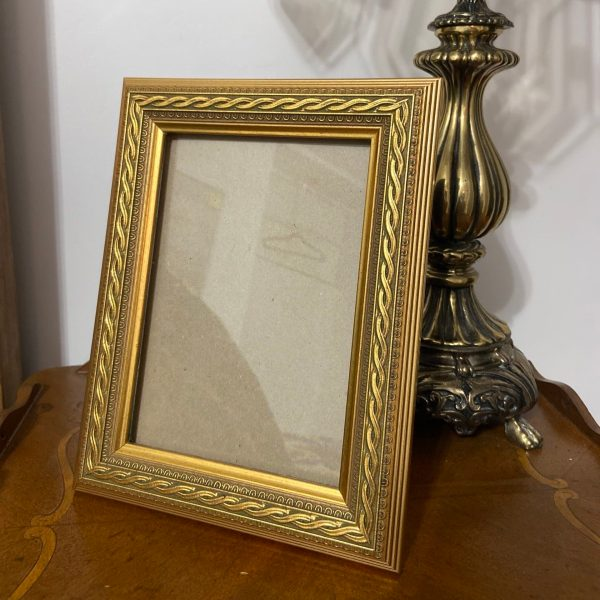 Front view of Ornate Gold Frame