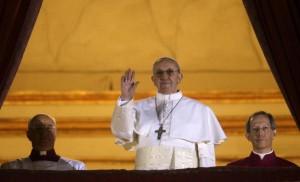 Il nuovo Papa Jorge Mario Bergoglio con il nome di Francesco