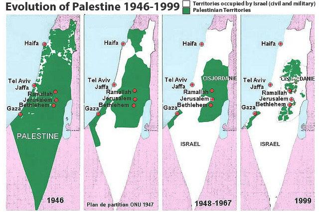 Storia della Palestina - L'Evoluzione della Palestina dal 1946 al 2000