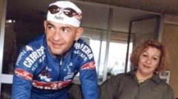 Marco Pantani con mamma Tonina